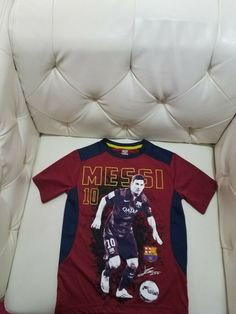 f2a96d913f03 FCB Barcelona Spain Messi Soccer T Shirt Kids size Small great preowned  cond #fashion #