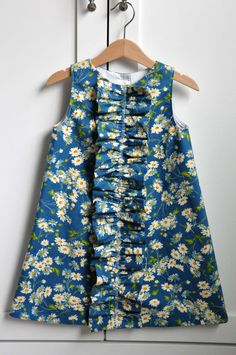Dress Pattern: Girls Ruffled Chemise (PDF, e-pattern INSTANT DOWNLOAD) via Etsy