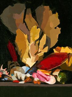"Catherine Kehoe: ""Marine Still Life"", oil on panel."