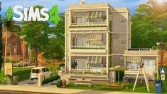 I build a realistic City House with The Sims 4 / Speed Build / no CC Sims 4 House Plans, Sims 4 House Building, Sims 4 Houses Layout, House Layouts, Sims 4 Tsr, Sims Cc, Living Room Sims 4, Sims Freeplay Houses, The Sims 4 Packs
