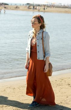 Look for a day to the sea http://www.dressingandtoppings.com/2016/05/27/look-per-una-giornata-al-mare/ #summerlook #sea #ethnic #boho #fashionblogger #dressingandtoppings #sea #summer #longdress #jacketjeans #rome #outfit #hairstyle