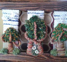 Telar decorativo en relieve Ximena Carmona.
