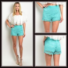 Hot Stuff Crochet Shorts