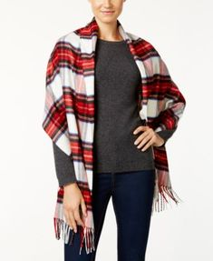 f218357e6 Charter Club Tartan Plaid Blanket Wrap & Scarf in One, Created for  Macy's Plaid