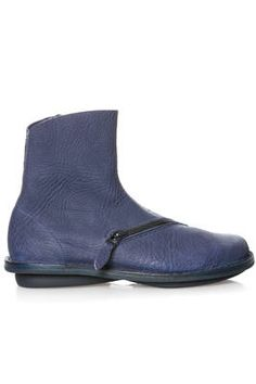a08be87b15b TRIPPEN - Pluto Boot In Soft Mouflon Leather And Classic Rounded Rubber Sole