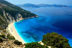 Ionian islands, like Kefalonia, Zakynthos and Lefkada, have stunning beaches with turquoise waters.