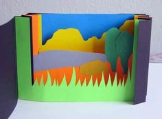 Great for landscape lessons! (compare this way of dissecting landscape with map)