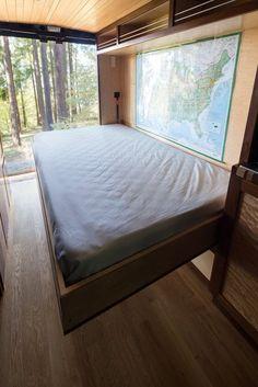 Brilliant ideas for camper vans! murphy bed camper van http://www.rydawell.com/conversions/