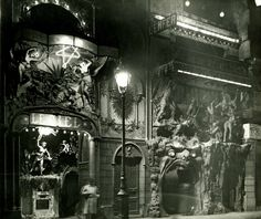 """L'enfer Cabaret, Boulevard de Clichy, Montmartre, Paris. Built circa 1890; demolished circa 1952. Entertainment inside the """"inferno of hell"""" included musicians dressed as devils and interior volcanos that spewed scented lava of molten gold."""
