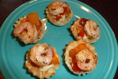 """""""TAKE ME AWAY"""" FRIED QUESO BLANCO CARIBE SHRIMP BITES. phyllo cups"""