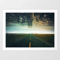 'Roads Ahead' by Seamless. Collect your choice of gallery quality Giclée, or fine art prints custom trimmed by hand in a variety of sizes with a white border for framing.