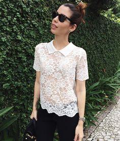 """""""Mais uma do look de ontem! Apaixonada por essa blusa da @riachuelo! #ootd #lookdodia"""""""