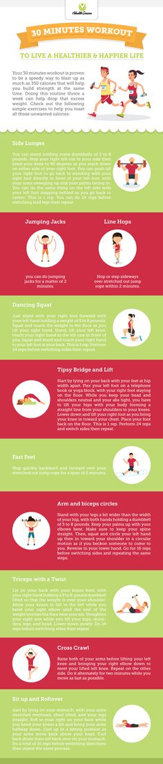 30 Minutes Workout (Infographic)