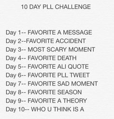 10 Day Challenge Find This Pin And More On 10 Day Pll
