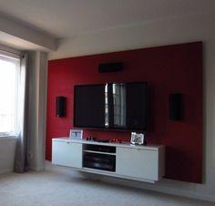 Weekend Project Build A False TV Wall Tv Walls Temporary - Tv false wall