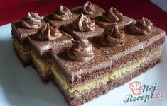 Delicious chocolate cuts - Food and Drink Vegetarian Breakfast Recipes Easy, Cake Cookies, Cupcake Cakes, Czech Recipes, Sweet Bakery, Pudding Desserts, Delicious Chocolate, Fun Cooking, Cakes And More