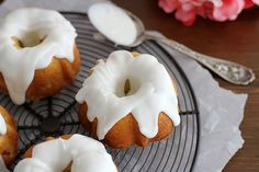 Mini Lemon-Rhubarb Bundt Cakes | Girl Versus Dough