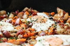 Baked Eggs With Potato Hash