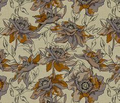 burlap_bohème by holli_zollinger, click to purchase fabric