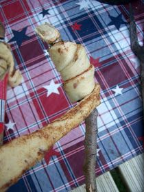 Campfire Roasted Cinnamon Rolls - I swear I pinned this a while back, but I can't find it.  (Not that I really need a pin to know how to put dough around a stick and roast it over a fire.)  @Sarah Chintomby Ward