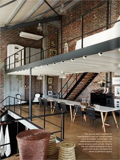 Get inspired by this industrial loft with exposed brick walls | www.vintageindustrialstyle.com #vintageindustrialstyle #exposedbrickwalls #industrialdesign