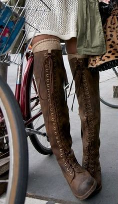 lace up knee high combat boots - Google Search