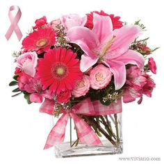 Pink Punch, a mixed pink arrangement with gerbera daisies and lilies. $59.95