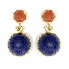 Tiklari: Ekin Earrings Orange Blue, at off! I Love Jewelry, Fine Jewelry, Jewelry Design, Jewelry Box, Jewellery Rings, Opal Jewelry, Statement Earrings, Drop Earrings, Wing Earrings