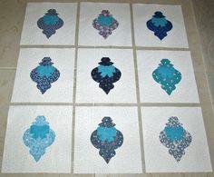 Set of 9 Applique  6 x 6 Quilt Blocks ...Mixed by MarsyesShoppe