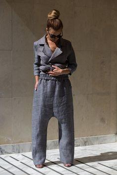 0ee1bd7b43a Linen Harem Pants Baggy Pants Linen Clothing Linen Harem Pants