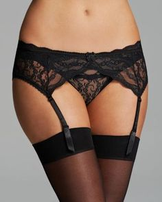 b.tempt'd by Wacoal Garter Belt - Lace Kiss #977182 | Bloomingdale's