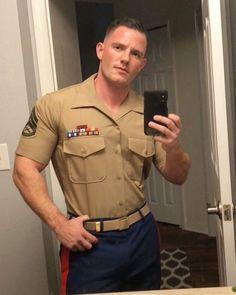 Shop male masturbators and female vibrators. Marines Uniform, Men In Uniform, Sexy Military Men, Hot Guys, Police, Thing 1, Male Form, Cute Gay, Good Looking Men