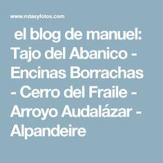el blog de manuel: Tajo del Abanico - Encinas Borrachas - Cerro del Fraile - Arroyo Audalázar - Alpandeire Malaga, Blog