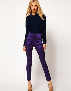 Under $30 in this colour! ASOS Skinny Crop Trousers