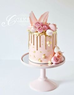 Easter cake with bunny ears