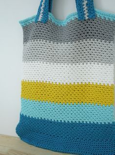 Happy in Red: Free crochet pattern: market bag in linen stitch. Gratis haakpatroon: boodschappentas in granietsteek. https://www.facebook.com/HappyInRed