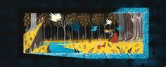 Rare Eyvind Earle Sleeping Beauty Concept Art