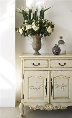 French Provincial Buffet; see also French Simple Carving Console & Louis XV Lg console w/ 2 drawers