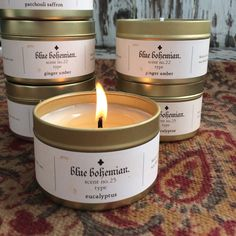 Summer  must haves  bohemian traveler soy candles