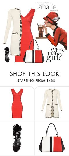 """Who's That Girl?"" by nightowl59 ❤ liked on Polyvore featuring Hervé Léger, Diane Von Furstenberg, Yves Saint Laurent and Prada"