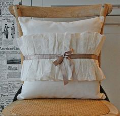 Ruffle pillow cover by secdus on Etsy, $40.00