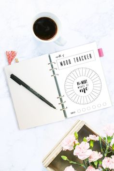 Monthly Mood Tracker Circle, Bullet Journal, A5 Journal, Mood Chart, Printable, PDF Download, Track Your Mood, Instant, Shortcut by littlecranepaperco on Etsy https://www.etsy.com/listing/502033713/monthly-mood-tracker-circle-bullet