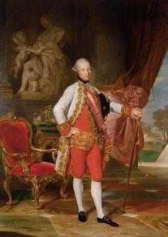 Emperor Joseph II (1741-1790) with the statue of Mars   dat 1775   Anton von Maron