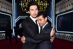 Star Wars The Force Awakens: Adam Driver and Oscar Isaac (photo by Alberto E. Star Wars Rebels, Star Wars Cast, Star Trek, Star Wars Logos, Star Wars Humor, Oscar Isaac, Star Citizen, Amour Star Wars, Tableau Star Wars