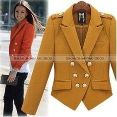Women Fashion Vintage Double Breasted Short Suit Coat Jacket Outwear New WCOT169   eBay
