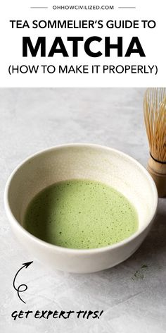 Matcha is a green tea from Japan that's jam-packed with antioxidants. See detailed steps in this post from Oh, How Civilized on how to make this tea properly at home, from a certified Tea Sommelier! #tea #greentea #matcha #teaguide #homemade Hot Tea Recipes, Matcha Benefits, Frozen Drinks, Food To Make, Latte, Japan, Homemade, Health, Green