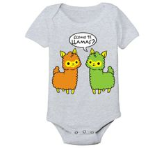 Como Te Llamas Baby One Piece Newborn Funny Llama, Llama Llama, Mexican Babies, Baby Fashionista, Future Mom, Baby Mine, Twin Girls, Bodysuit, Baby Alpaca