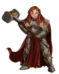 Dungeons And Dragons Characters, D&d Dungeons And Dragons, Dnd Characters, Fantasy Characters, Female Characters, Dwarf Paladin, Dnd Paladin, Cleric, Female Character Design