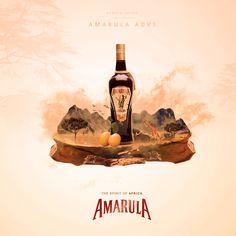 AMARULA - The Spirit of Africa on Behance Advertisement Template, Non Profit, Coffee Drinks, Liquor, Caramel, Africa, Behance, Spirit, Movie Posters
