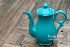 I'm a Little TEAPOT!  Update dated ceramics and glass with enamel paint!